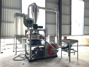 Vertical plastic mill